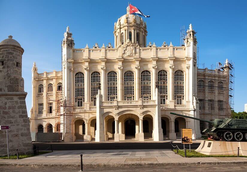 Das Revolutionsmuseum, früherer Präsidentenpalast in Alt Havanna auf Kuba
