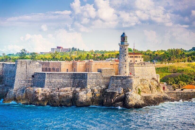 Castillo de los Tres Reyes de Morro in Havanna auf Kuba, Denkmal, Festung, Burg
