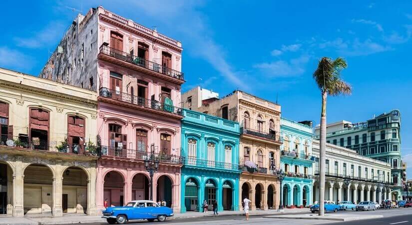 Hauptstraße in Havanna Alt-Havanna auf Kuba