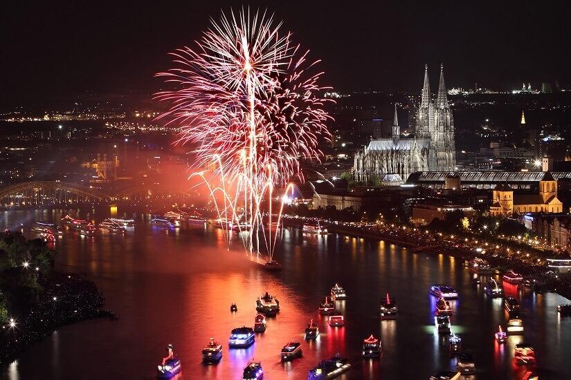 Bild Silvesterfeuerwerk in Köln