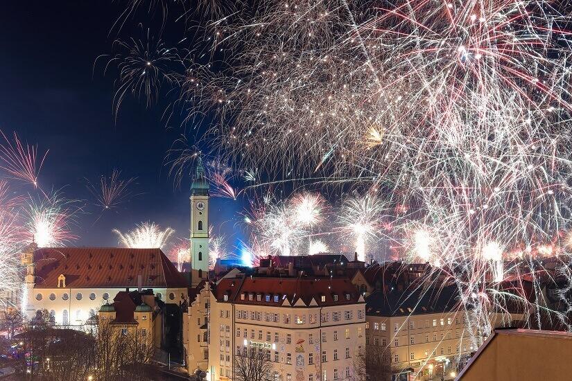 Bild Jahreswechsel in München