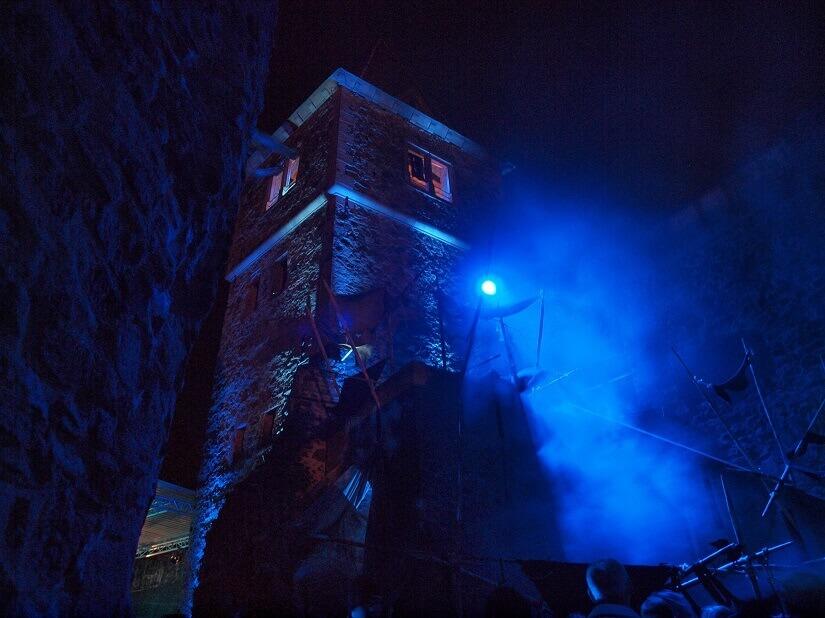 Nebelschwaden auf Burg Frankenstein