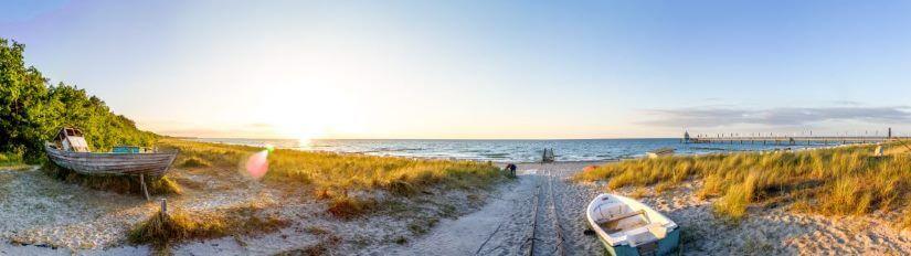 Blick auf Ostsee Strand
