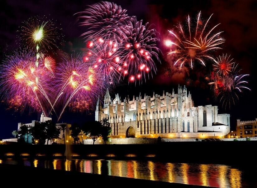 Feuerwerk zu Silvester auf Mallorca