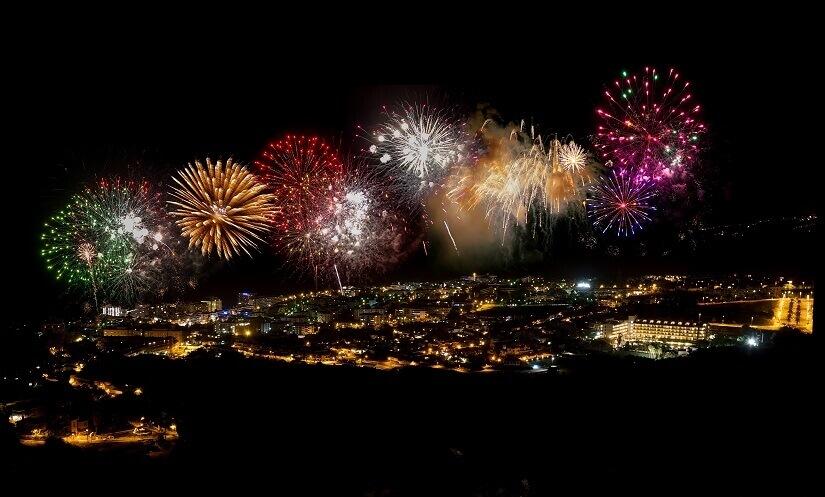 Feuerwerk in Puerto de la Cruz auf Teneriffa