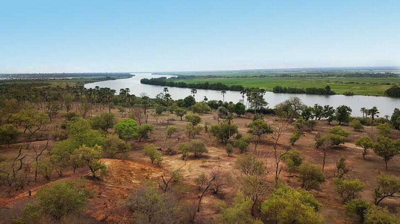 Landschaft am Fluss Gambia