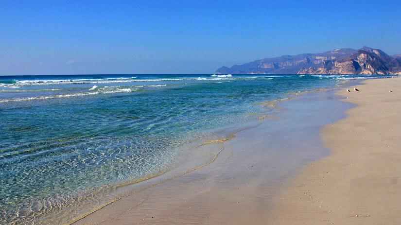 Strand in Salalah im Oman