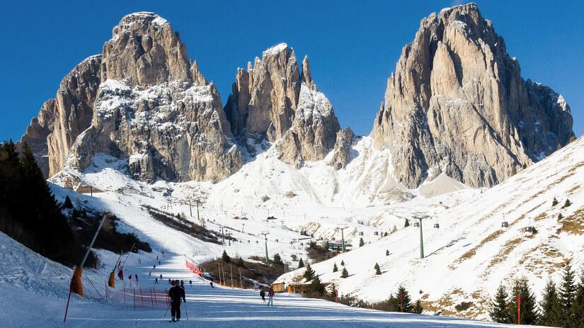 Skigebiet Langkofel in Südtirol
