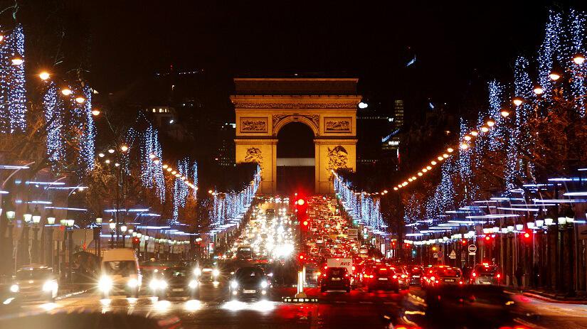 Silvester am Arc de Triomphe in Paris
