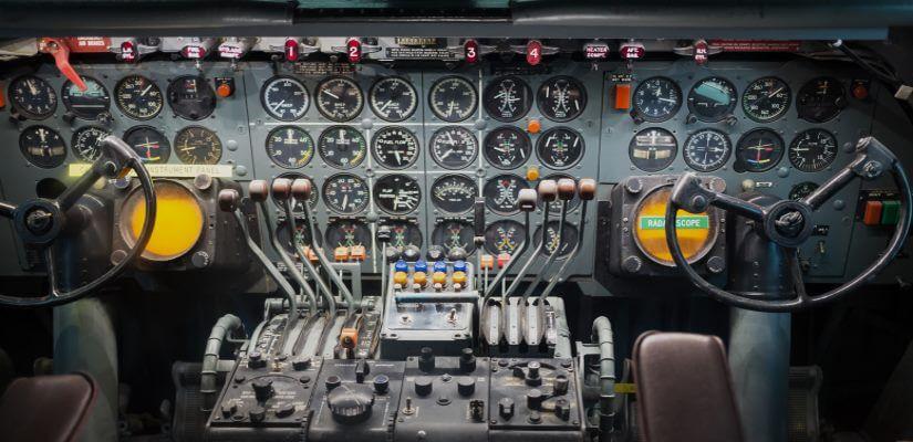 Cockpit im Air and Space Museum Washington