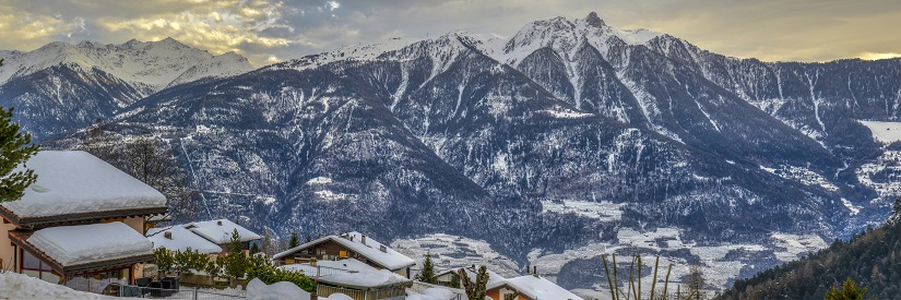 Walliser Alpen im Winter