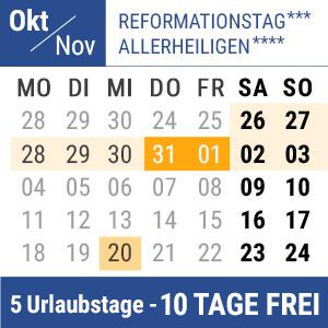 Bild Brückentage Reformationstag Allerheiligen