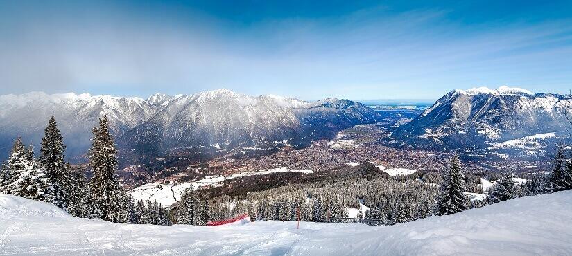 Garmisch-Partenkirchen im Schnee