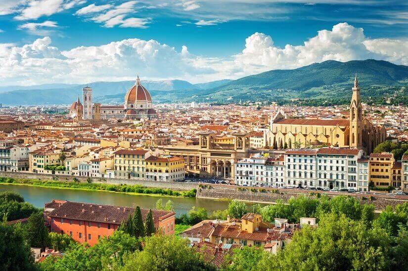 Blick auf Florenz vom Süden aus