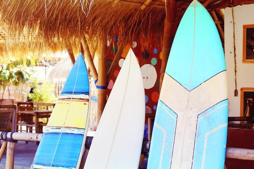 Bild Surfbretter zum Surfen auf Jamaika