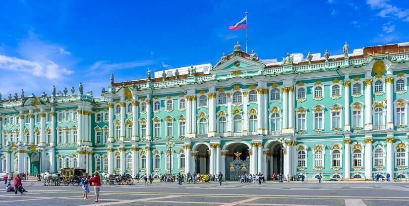 Das Kunstmuseum Eremitage in St. Petersburg