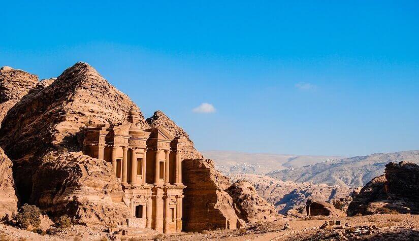 Felstenstadt Petra in Jordanien
