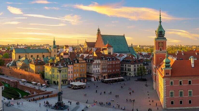Der Schlossplatz in Warschau