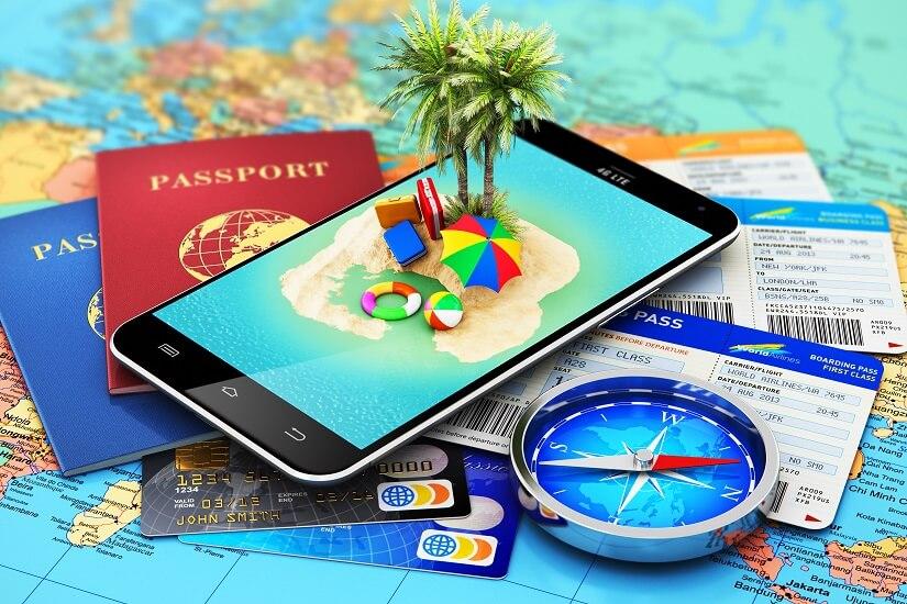 Bild Urlaub buchen mit dem Smartphone