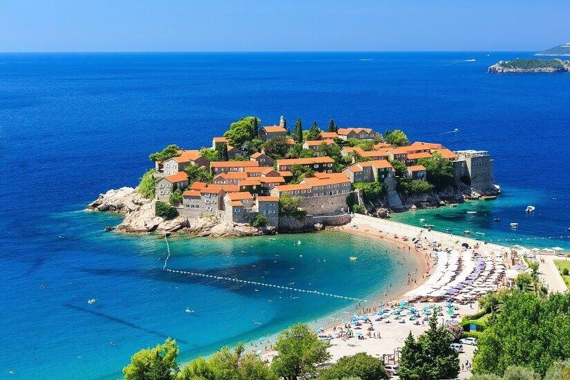 Küstenort Budva in Montenegro