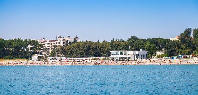 Blick auf den Central Beach in Burgas