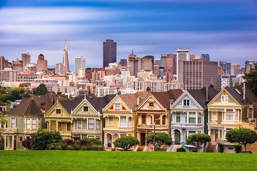 Blick auf die Paintedt Ladies in San Francisco