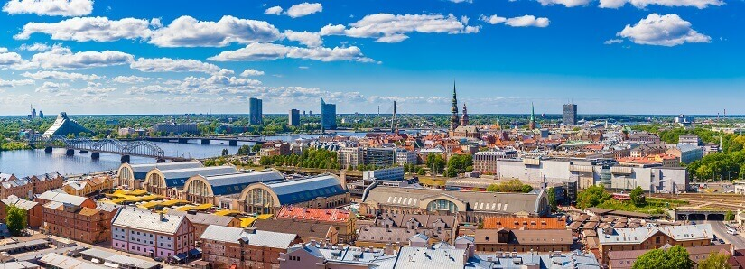 Blick auf Rigas Altstadt