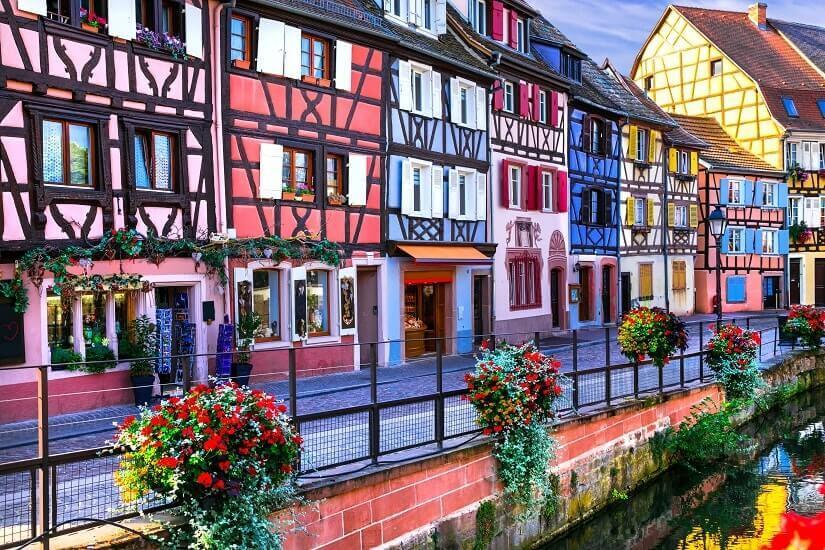 Bild Fachwerkhäuser in Colmar, Elsass, Frankreich