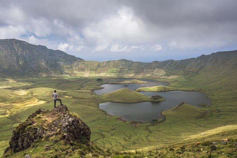 Bild Caldera auf Corvo, Azoren