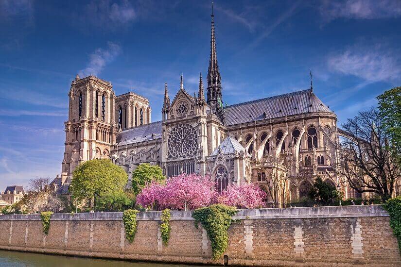 Die Kirche Notre Dame auf der Île de la Cité in Paris
