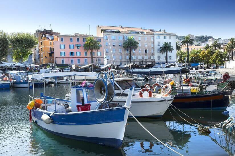 Bild Hafenstadt Ajaccio auf Korsika