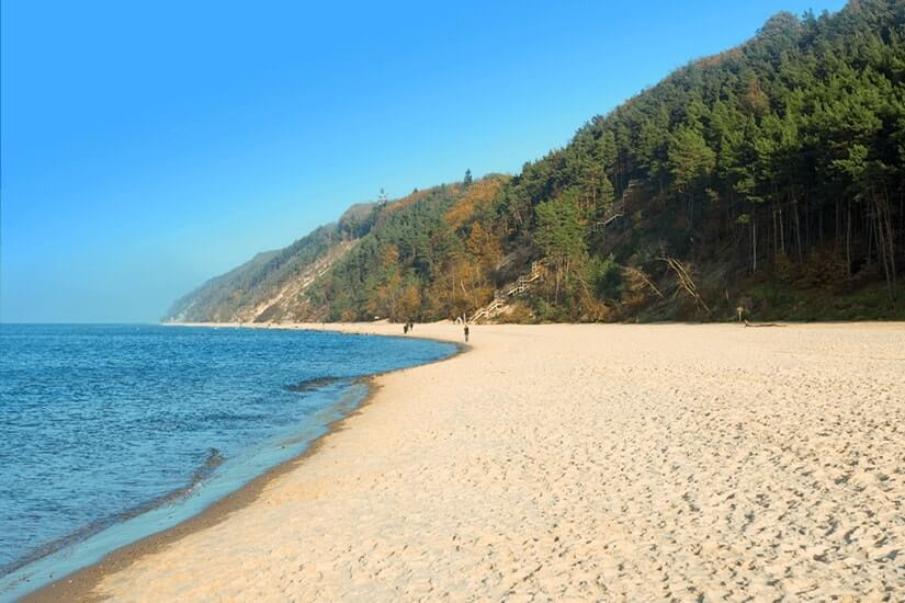 Strand bei Międzyzdroje auf Wollin