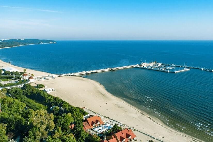 Ostseebad Sopot bei Danzig