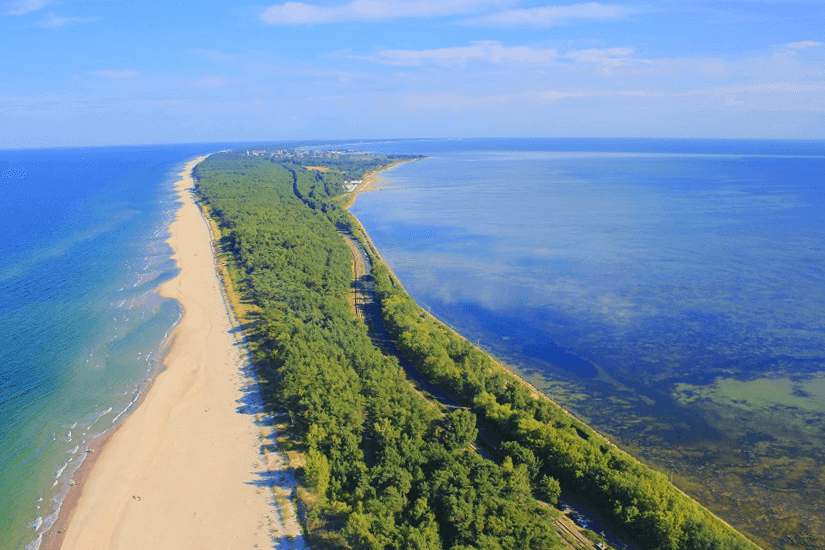 Halbinsel Hela aus der Vogelperspektive