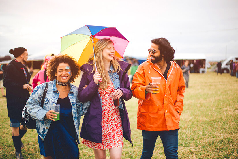 Kleidung bei Regenwetter