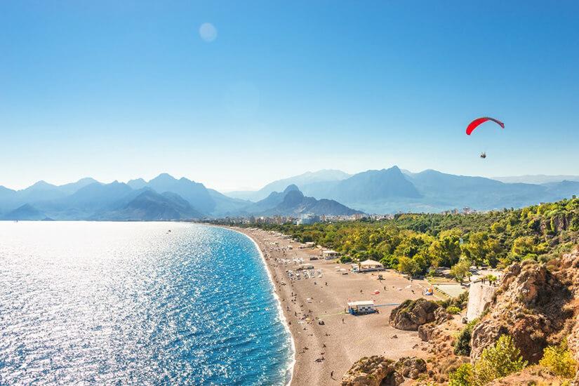 Strand in Antalya an der Türkischen Riviera