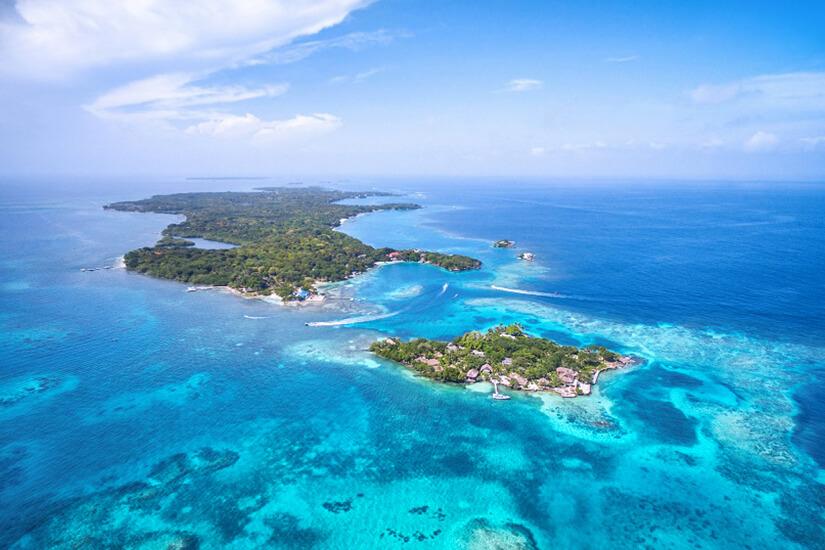 Die zu Kolumbien gehörenden Islas del Rosarios