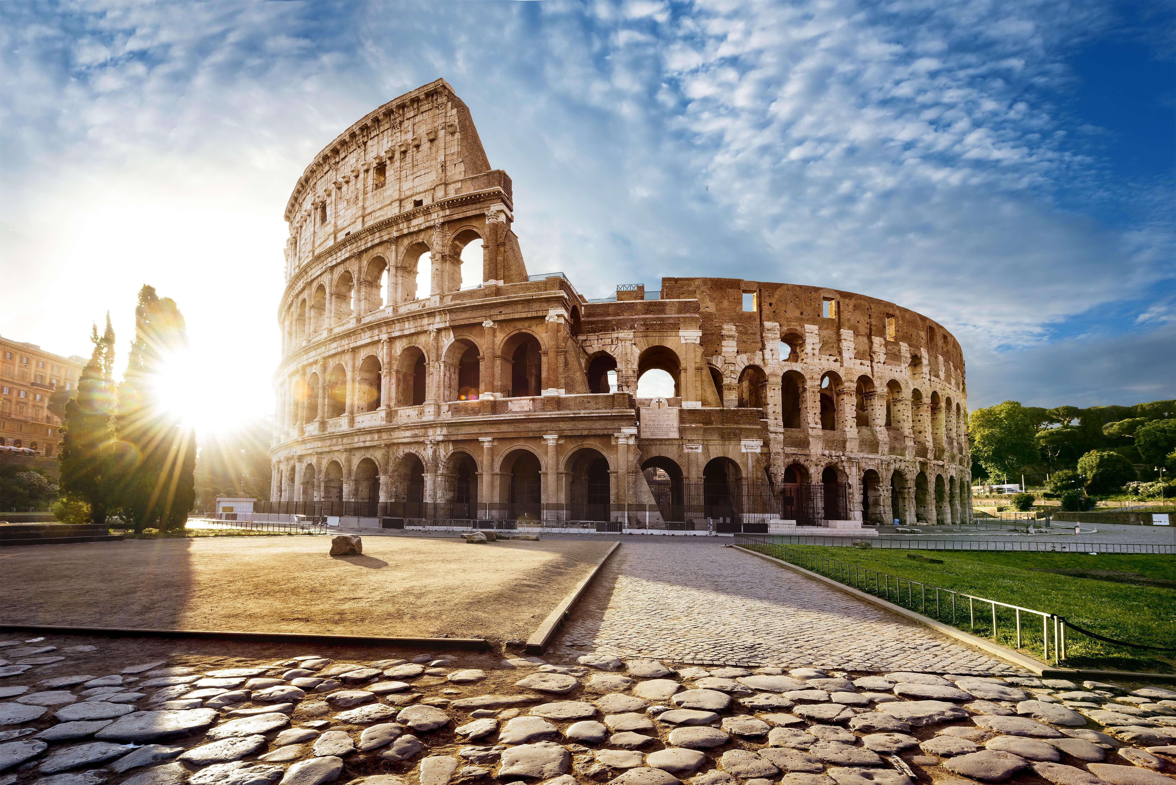 Kolosseum in Rom in der Dämmerung
