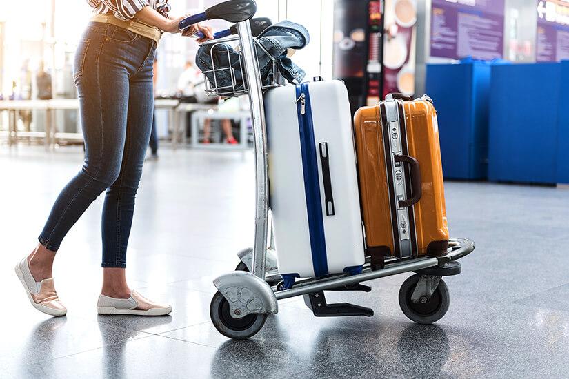Koffer für die Gepäckaufgabe