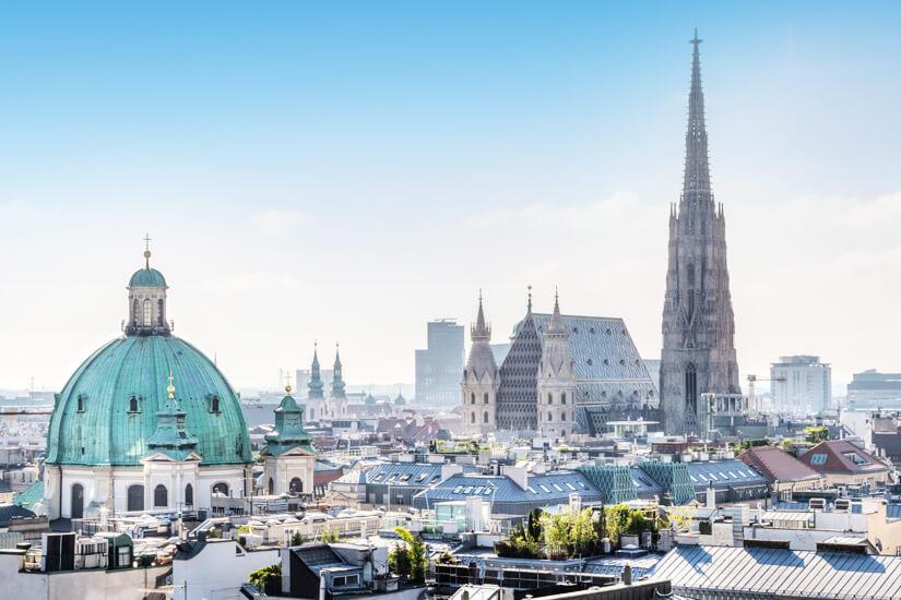 Wien mit Blick auf den Stephansdom