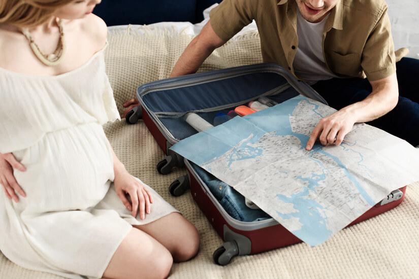 Reiseziel für Schwangere auswählen