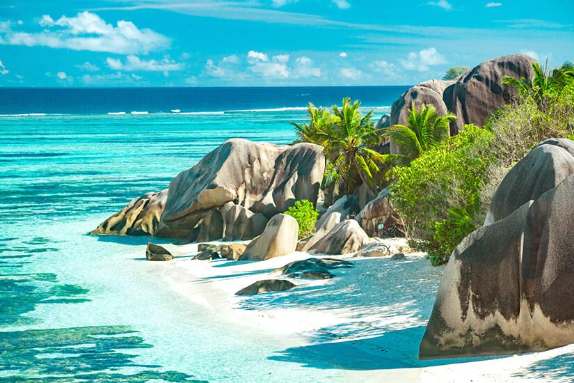 Strand Anse Source D'Argent auf den Seychellen