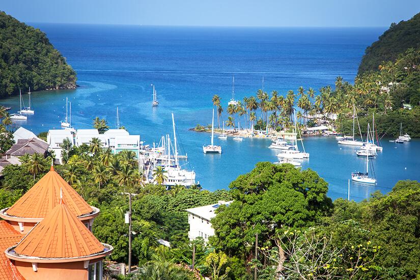 Marigot Bay auf St. Lucia