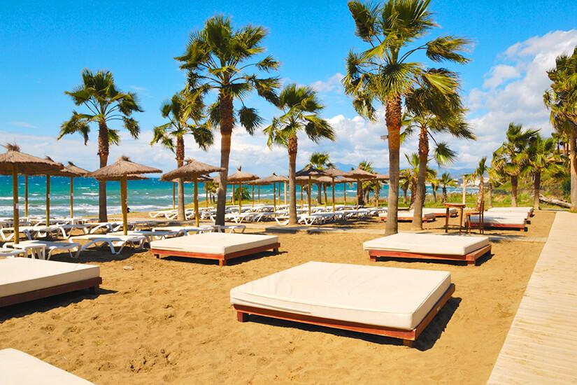 Luxuriöser Strand von Marbella