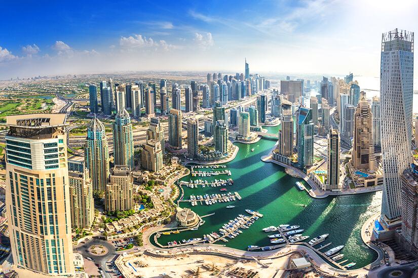 Blick auf die Luxusmetropole Dubai