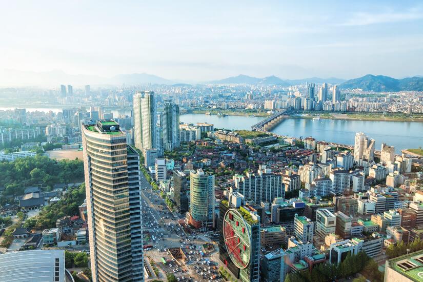 Blick auf die Megacity Seoul