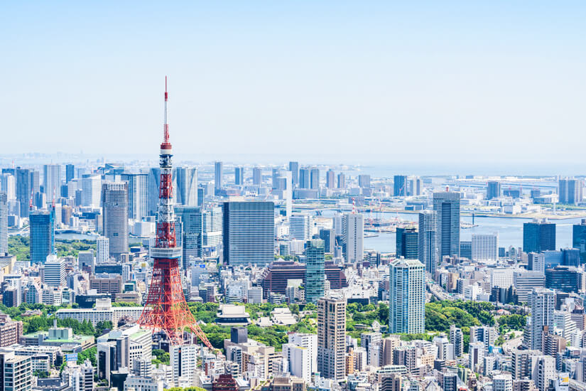 Skyline der Megacity Tokio