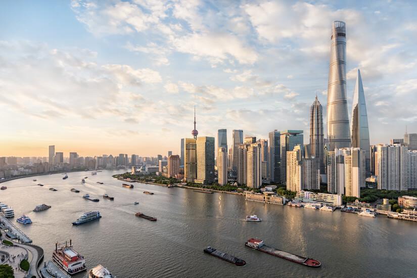 Die chinesische Megacity Shanghai