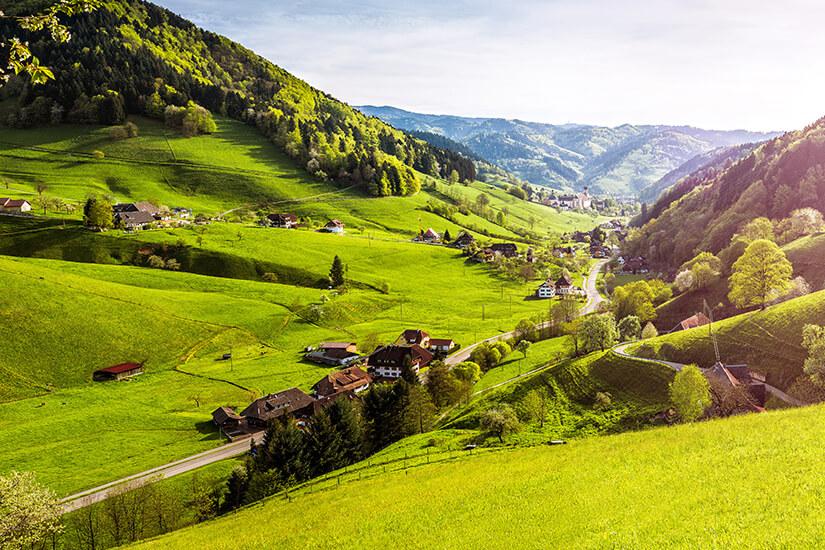 Reizvolle Ausblicke im Schwarzwald