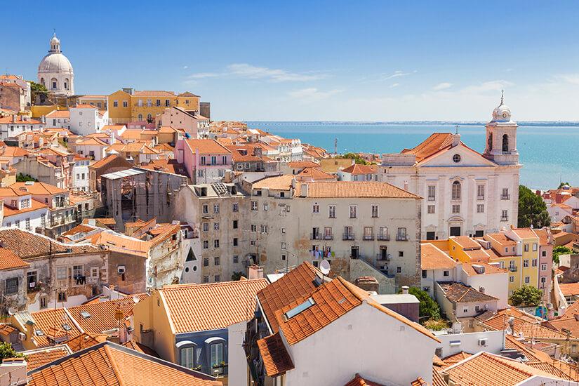 Lissabon an der Atlantikküste